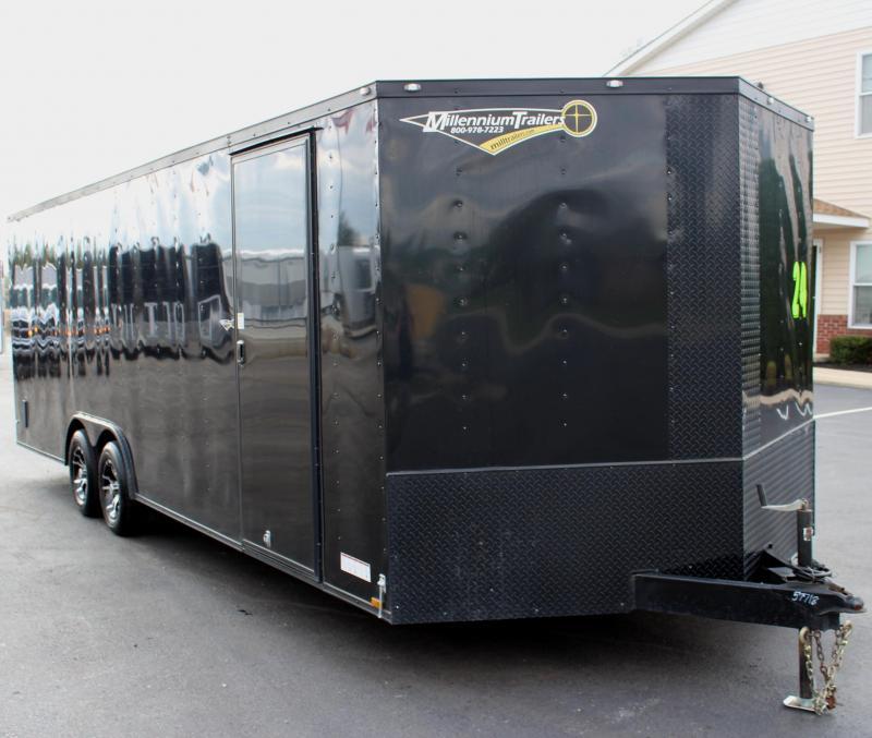 <b>Pre-Owned Black-Out Pkg</b> 2017 24' Diamond Cargo Race Trailer Alum Wheels