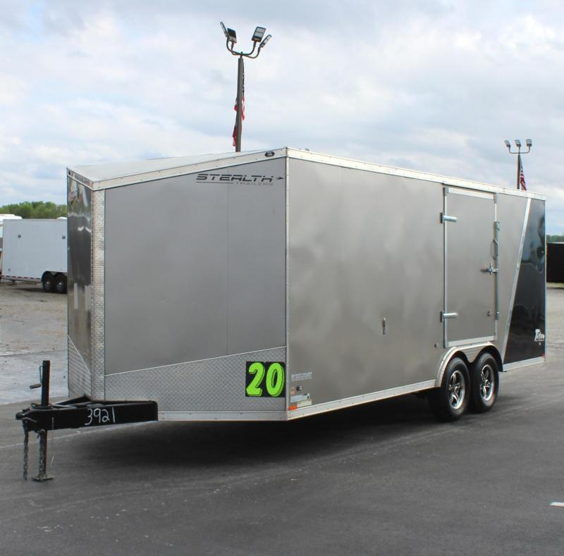 <b> PRE-OWNED TRADE-IN JUST ARRIVED</b> 2015 20' Stealth STE Car / Racing Trailer w/Escape Door/Alum Wheels