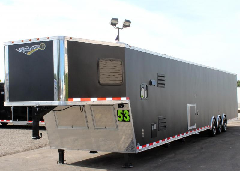 <b>Canceled CUSTOM LQ </b> 53' Matte Black Ext w/12'S + 8' GN w/7.5 Onan Diesel Generator