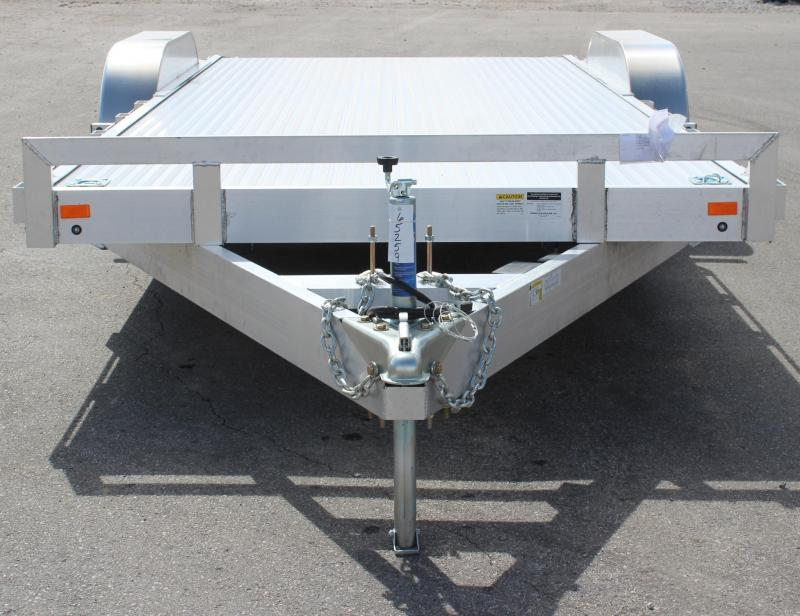<b>Call For Price & Availability</b> 8'x20' Aluminum Deck Tilt Car Trailer