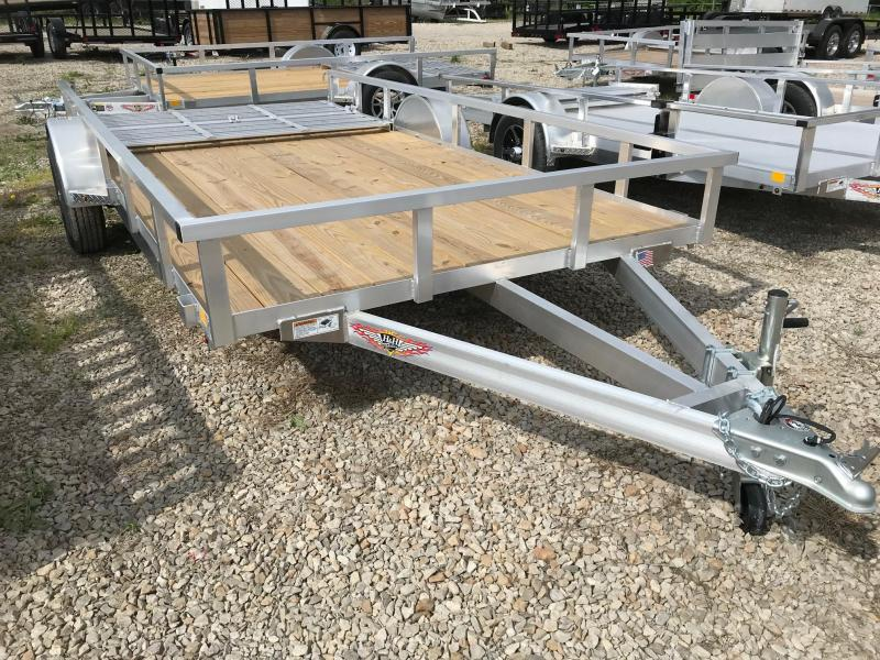 2018 H and H Trailer Aluminum Utility Trailer