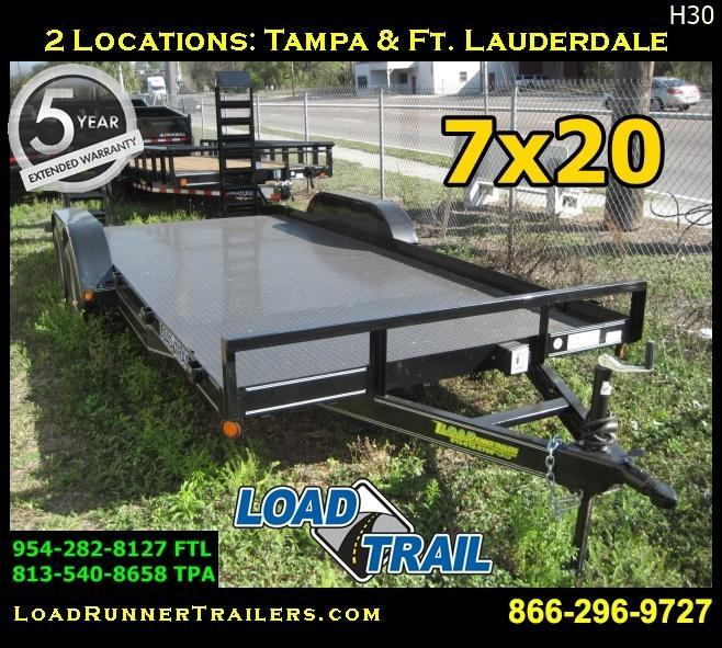 *H30* 7x20 Equipment Hauler Trailer 7K with Kicker Ramps 7 x 20 | EQ83-20T3-2B-SD/KR