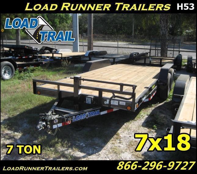 *H53* 7x18 Car Hauler Trailer 7 TON   Trailers & Haulers 7 x 18   CH83-18T7