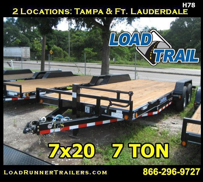 7x20 Car / Equipment Hauler  Trailer w/Removable Fenders 7 TON | H78