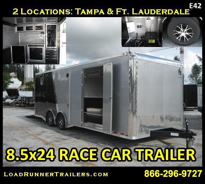 E42| 8.5x24 Enclosed Car & Cargo Hauler 5 TON Fully Dressed | Trailers