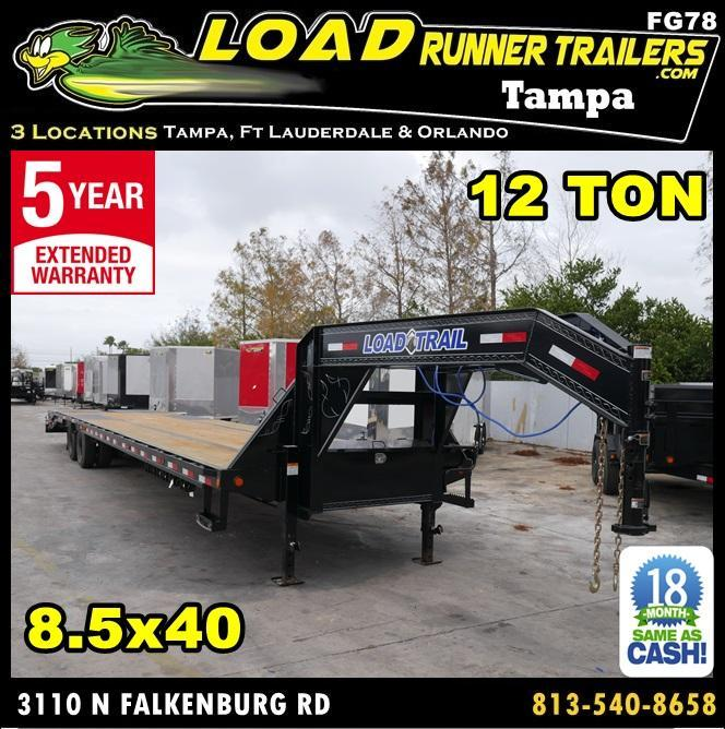 *FG78* 8.5x40 Deck Over Gooseneck Trailer 12 Ton Flatbed 8.5 x 40 | FG102-40T12-FF