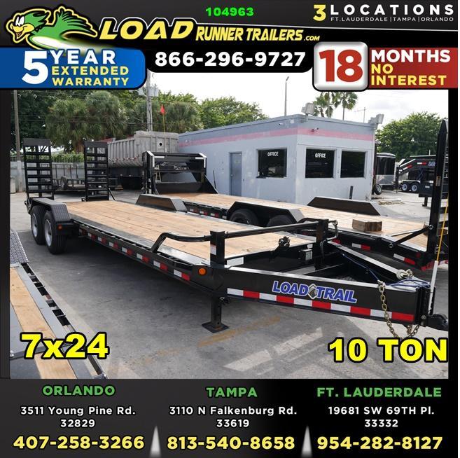 *104963* 7x24 Equipment Trailer |LRT Haulers & Trailers 7 x 24 | EQ82-24T10T-KR