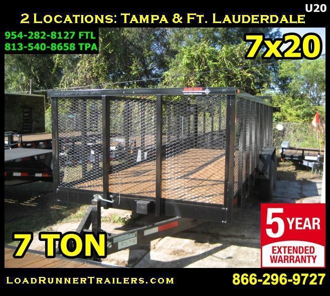 2018 Loadrunner Trailers Trailer U84-20T7-TR/4M Utility Trailer