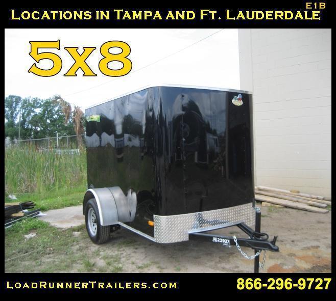 E1B| 5x8*Enclosed*Trailer*Cargo* | 5 x 8 | Load Runner Trailers