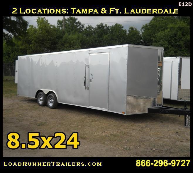 E12D| 8.5x24*Enclosed*Trailer*Cargo*Car*Hauler*|LR Trailers | 8.5 x 24 |E12D