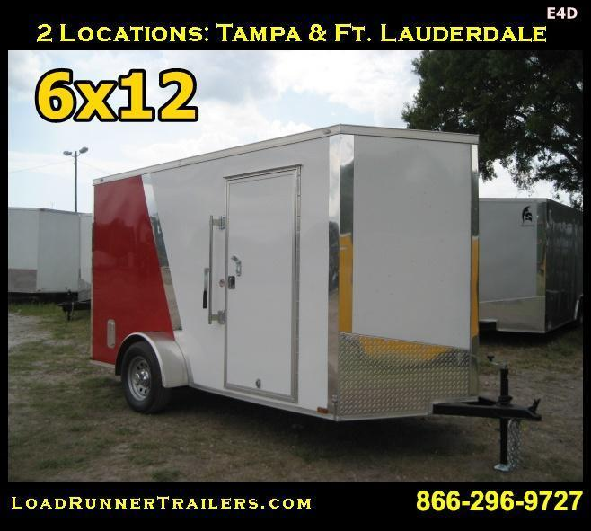 E4D| 6x12 Single Axle*Enclosed*Trailer*Cargo*| LR Trailers | 6 x 12 | E4D