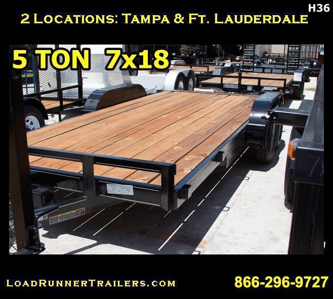 *H36* 7x18 7x18 Car Hauler Trailer 5 TON 7 x 18 | CH82-18T5-1B