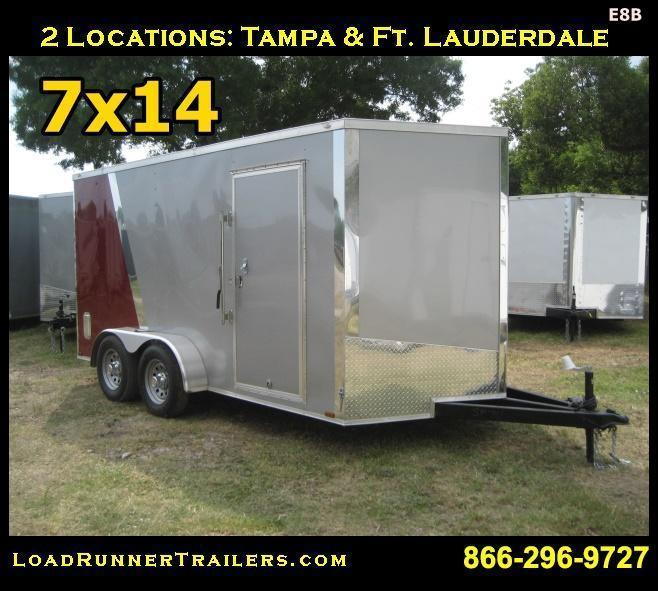 E8C| 7x14 Tandem Axle *Enclosed*Trailer*Cargo* | 7 x 14 | LR Trailers | E8C