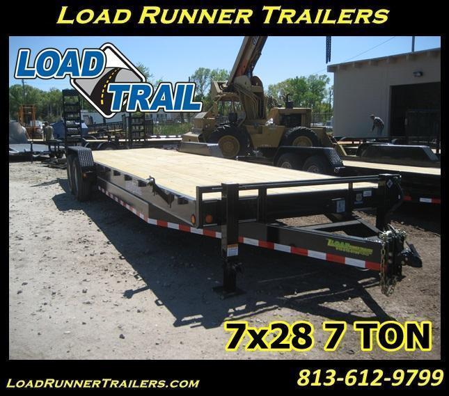 7x28 LOAD TRAIL 7 TON Equipment Hauler Trailer   LR Trailers  H61