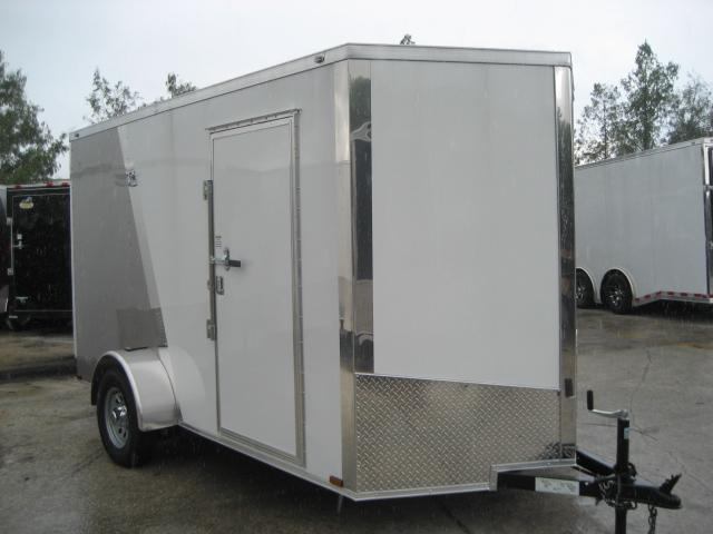 *E4F* 6x12 Enclosed Cargo Trailer Construction Trailers 6 x 12 | EV6-12S-R
