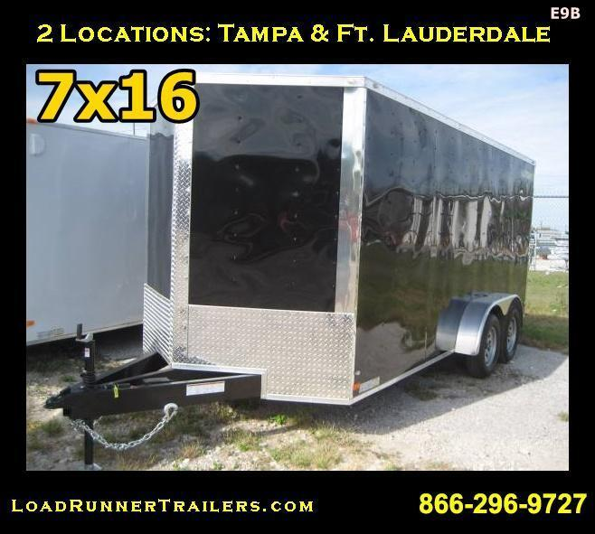 E9B| *Enclosed*Trailer*Cargo* 7x16 Tandem Axle | LR Trailers | 7 x 16