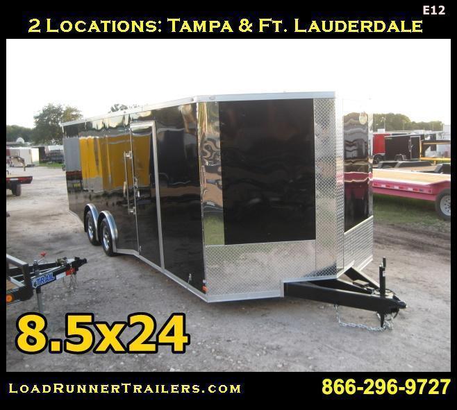 E12| 8.5x24*Enclosed*Trailer*Cargo* | Car Hauler | LR Trailers