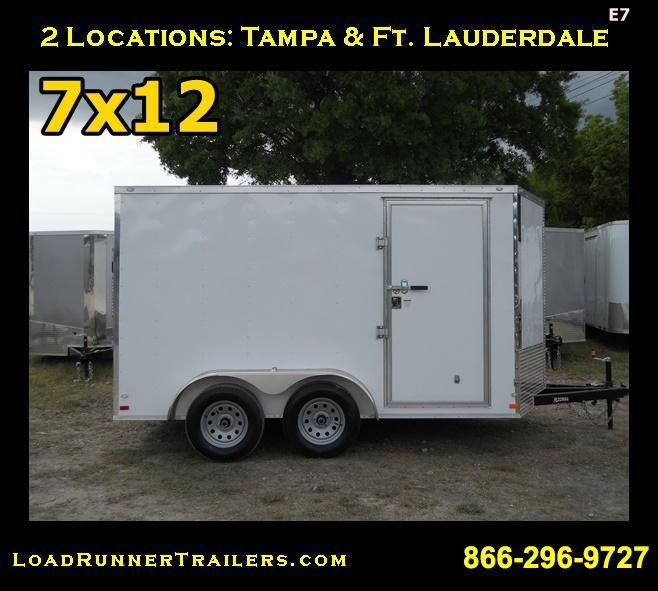 E7| 7x12 Tandem Axle|  LRTrailers | 7 x 12 *Enclosed*Trailer*Cargo*