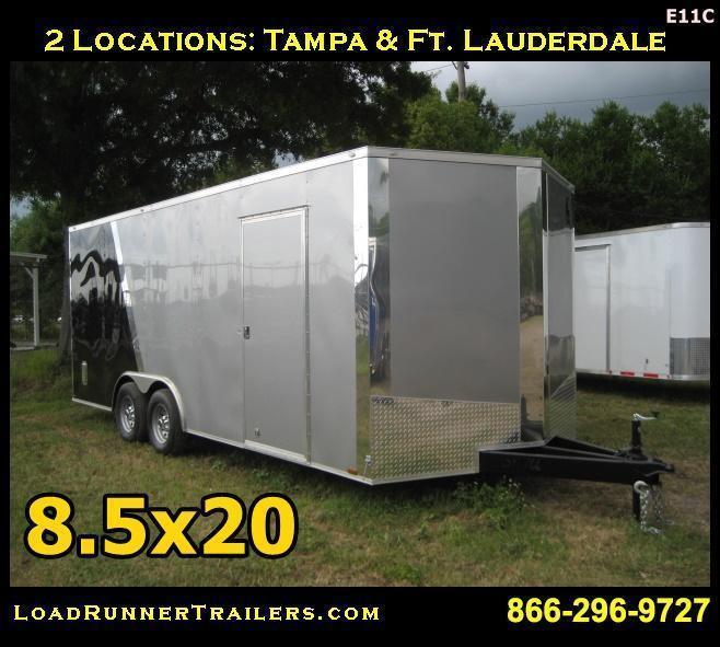 E11C  8.5x20*Enclosed*Trailer*Cargo*Car*Hauler* LR Trailers   8.5 x 20  E11C
