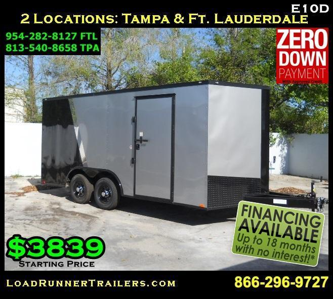 E10C| 8.5x16*Enclosed*Trailer*Cargo*Car*Hauler*|LR Trailers | 8.5 x 16 |E10C