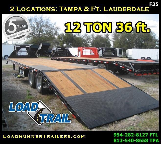 *F35* 8.5x36 Flatbed Gooseneck Trailer 12TON Low Profile 8.5 x 36   FG102-36T12-LP/HYD
