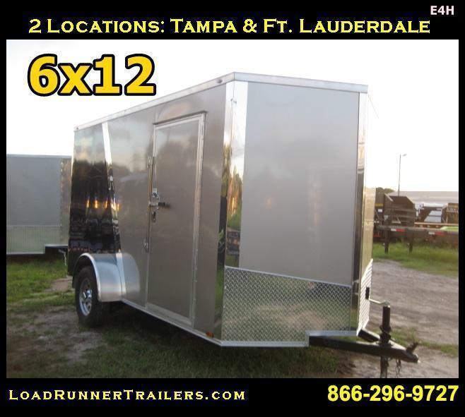 E4H  6x12 Single Axle*Enclosed*Trailer*Cargo*  LR Trailers   6 x 12   E4H