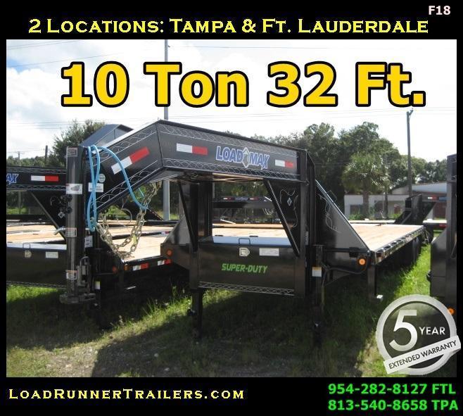 *F18* 8.5x32 Gooseneck Flatbed Deck Trailer 10 TON 8.5 x 32   FG102-32T10-MPD
