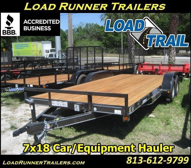 *H72* 7x18 Load Trail Car Hauler Trailer 7K Haulers 7 x 18 | CH83-18T3-1B