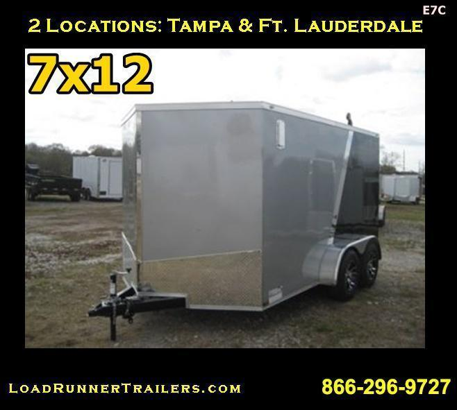 E7C| 7x12 Tandem Axle*Enclosed*Trailer*Cargo* | LRTrailers | 7 x 12 | E7C