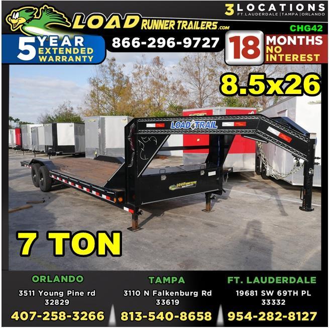 *CHG42* 8.5x26 7 TON Gooseneck Car Hauler Trailer |LR Trailers 8.5 x 26 | CHG102-26T7-DOF