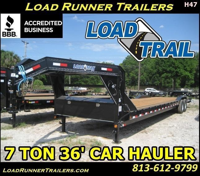 *H47* 8.5x36 Gooseneck Hauler Trailers Car Trailers | CHG102-36T7-DOF | 8.5 x 36