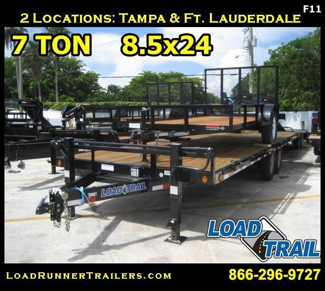 *F11* 8.5x24 Flatbed Deck Over 7 TON Butt End 8.5 x 24 | FC102-24T7-BE