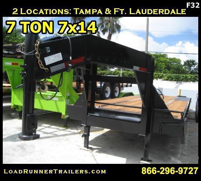 *F32* 8.5x32 Gooseneck Flatbed Trailer Low Profile 10 TON 8.5 x 32   FG102-32T10-LP/FF