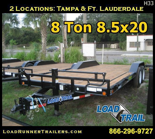8.5x20 Car / Equipment Hauler Trailer 8 TON | Trailers & Haulers | H33