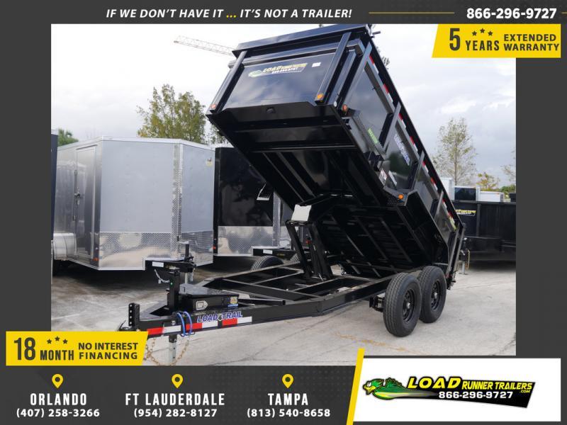 *108342* 6x14 Dump Trailer  LRT Tandem Axle Trailers 6 x 14