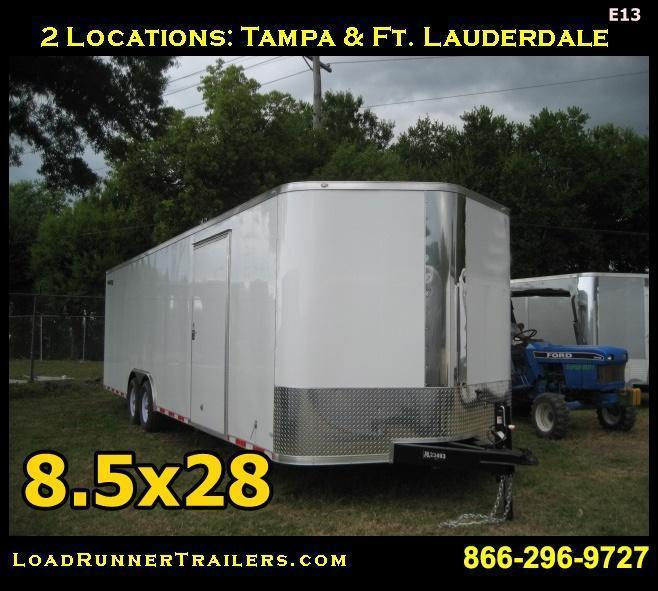 E13| *Enclosed*Trailer*Cargo*Car*Hauler* 8.5x28 |LR Trailers | 8.5 x 28