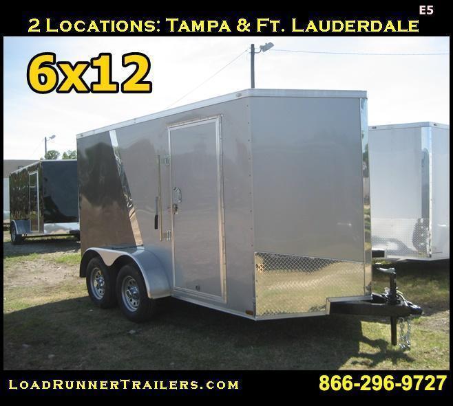 E5| 6x12 Tandem Axle| LR Trailers | 6 x 12 *Enclosed*Trailer*Cargo*