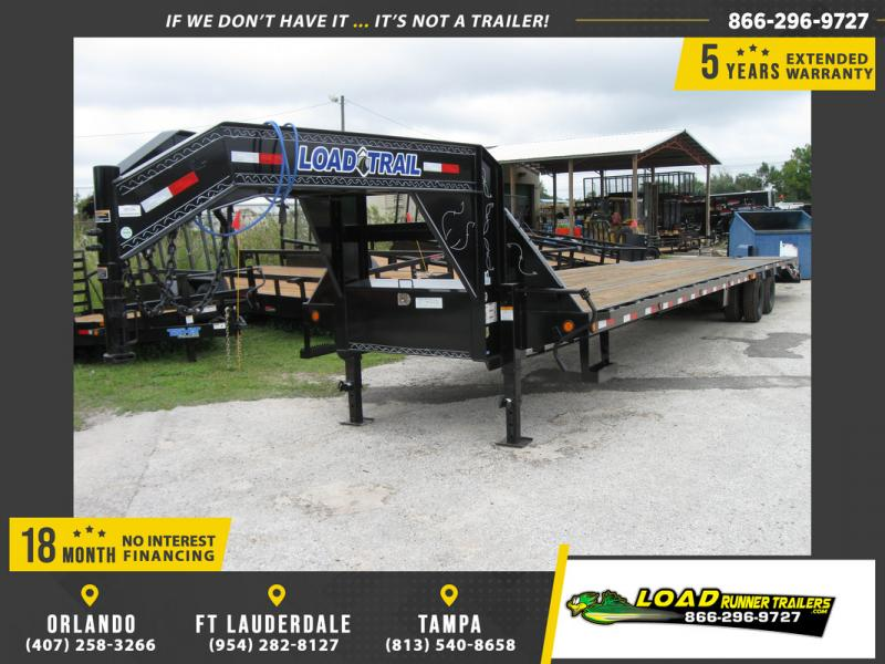 *106948* 8.5x40 Gooseneck Flatbed Deck Over Trailer  LRT Haulers & Trailers 8.5 x 40