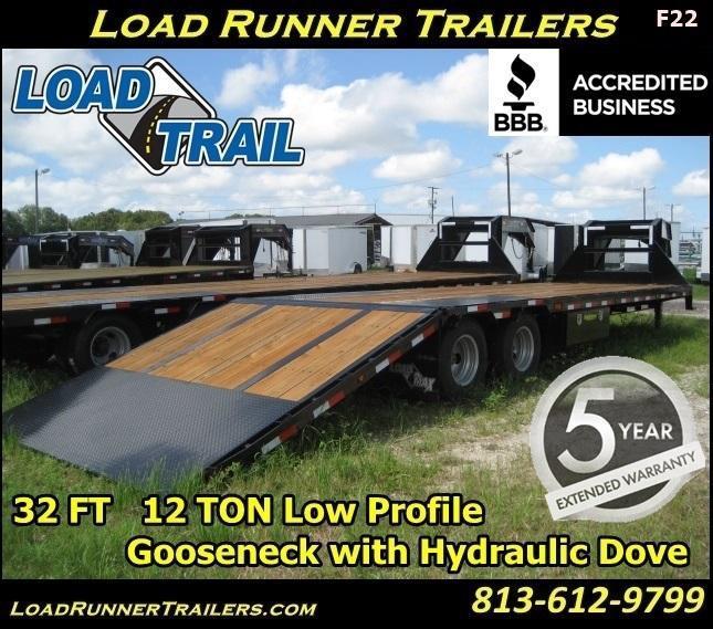 *F22* 8.5x32 Flatbed Gooseneck  Trailer 12TON Hydraulic 8.5 x 32   FG102-32T12-LP/HYD