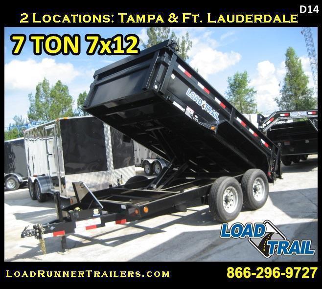*D24E* 7x14 Load Trail 7 TON Dump Trailer Trailers & Dumps 7 x 14 | D83-14T7-24S