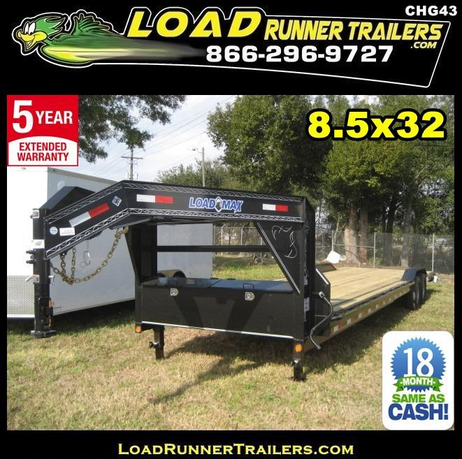 *CHG43* 8.5x32 Load Trail Gooseneck Trailer Car Hauler 8.5 x 32 | CHG102-32T7-DOF