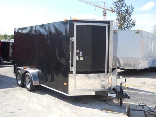*E8D* 7x14 Door on Nose   5 Yr Warranty Enclosed Cargo Trailer 7 x 14   EV7-14T3-R