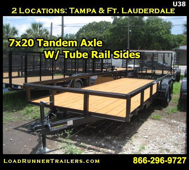 7x20 Utility Trailer w/ Electric Brakes | Load Runner Trailers | U38