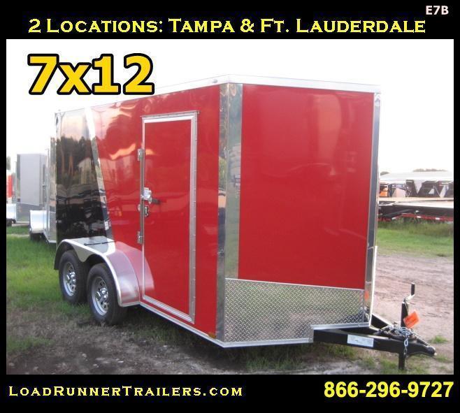 E7B| 7x12 Tandem Axle*Enclosed*Trailer*Cargo*| LRTrailers | 7 x 12 | E7B