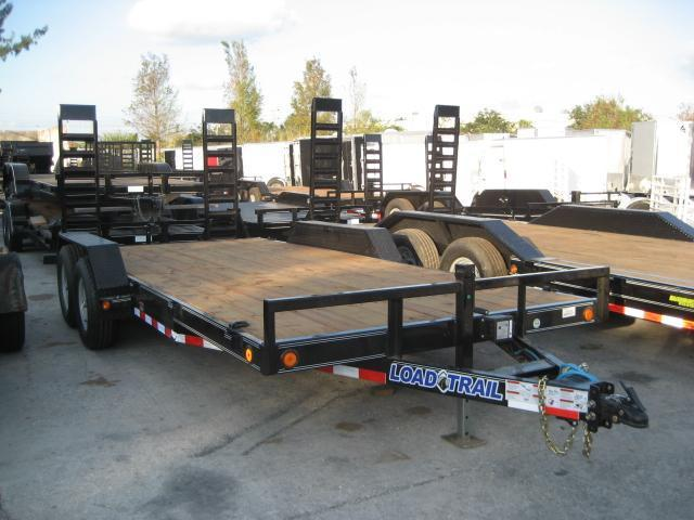 *H74* 7x18 5 TON Equipment Hauler Trailer w/Kicker Ramps 7 x 18 | EQ83-18T5-KR