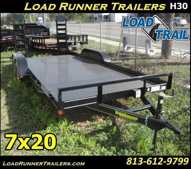 *H30* 7x20 Equipment Hauler Trailer 7K with Kicker Ramps | EQ83-20T-2B-SD | 7 x 20