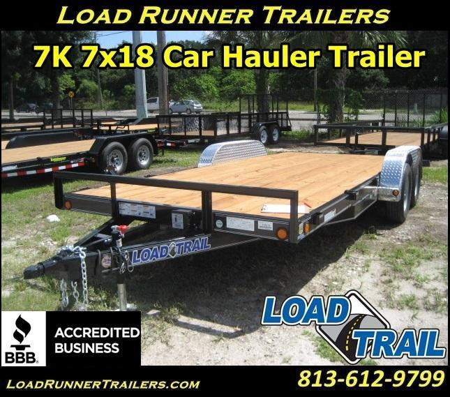 *H77* 7x18 CAR HAULER Trailer  Removable Fenders 7 x 18 | CH83-18T3-1B-AF