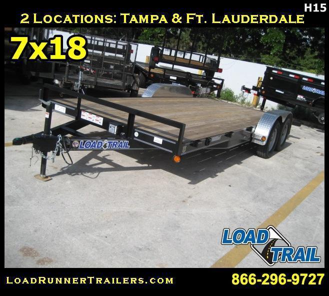 *H15* 7x18 7K Car Hauler Trailer Aluminum Removable Fenders 7 x 18   CH83-18T3-2B-ARF