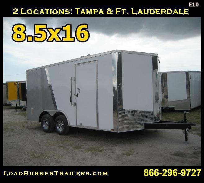 E10| 8.5x16*Enclosed*Trailer*Cargo*Car*Hauler*|LR Trailers | 8.5 x 16