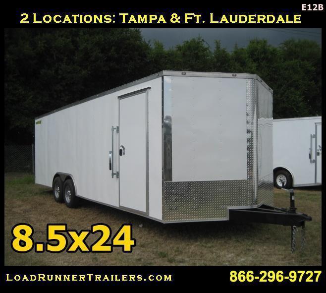 E12B  8.5x24*Enclosed*Trailer*Cargo*Car*Hauler* LR Trailers   8.5 x 24  E12B